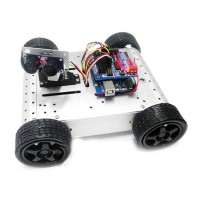 AS-4WD Ultrasonic Obstacle Avoidance Robot Kits Arduino 4WD Robot Platform Smart Car