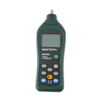 MASTECH MS6208A LCD Display Contact Digital Tachometer RPM Meter Rotation Speed 50-19999RPM Data Hold