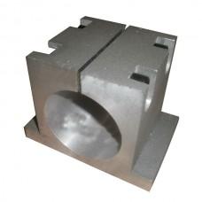 65mm Bracket Seat CNC Carving Machine Clamp Motor Holder Cast Aluminum Sandblasting Surface Match Use