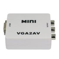 HDV-M625 VGA to AV Converter Scan Converter for Video Conference Home Theater