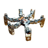 Metal Hexapod Spider RC Robot Frame Kits for Platform Research w/ Bluetooth Handle