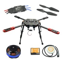 Tarot 650 Sport Quadcopter TL65S01 with Naza V2(GPS) & Tarot 4006 Motor & 30A ESC & Propeller for FPV Photography