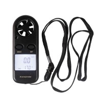 Mini GM816 Digital LCD Display Wind Speed Gauge Meter Anemometer Thermometer for RC Hobby