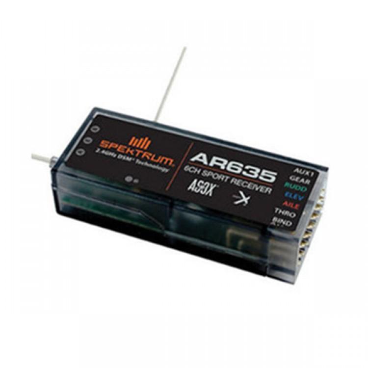 Spektrum AR635 6-Channel AS3X DSMX DSM2 Sport Air Receiver DX10T