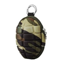 New Keychain Hand Grenade Shaped Style Zippered Case Coin Pouch Bag Purse Wallet Key Wallet Holder