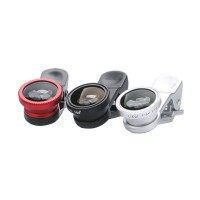 Universal External Lens Wide Angle + Microspur + Fisheye Lens Three in One for Iphone Samsung Xiaomi HTC Nokia Ipad