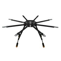 FC X8-1050 8-Axis Auto Folding FPV Octocopter Carbon Fiber Multi-rotor Frame Kit w/ Landing Gear