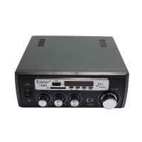 FM 20W*2 USB SD Digital Display Player Home Power Amplifier AC220V & DC12