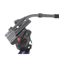 Pro JY0506 video DSLR Camcorder Fluid Tripod Head Drag slider rail max 8KG load