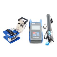 Optical Power Meter TL510+ FC-6S Fiber Cleaver +TL532 Fiber Cable Tester 10km