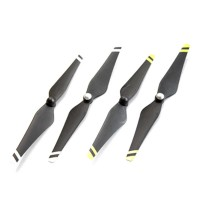 9443 Carbon Fiber Propeller Reinforced Self-tightening & White/ Yellow Strips for Vision DJI Phantom E300 Multicopter