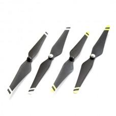 9443 Carbon Fiber Propeller Reinforced Self-tightening & White/ Yellow Strips for Vision DJI Phantom E300 Multicopter