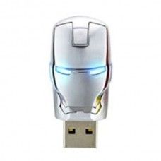 16G Iron Man Head USB Flash Drive Metal U Disk Avengers Assemble Golden Silver