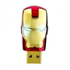 32G Iron Man Head USB Flash Drive metal U Disk Avengers Assemble Golden Silvery