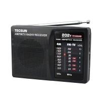 TECSUN R-202T FM/AM/TV Radio Receiver Mini Portable Size Simple to Control School Radio
