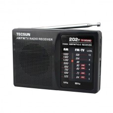TECSUN R-202T FM/AM/TV Radio Receiver Mini Portable Size Simple to Control School Radio