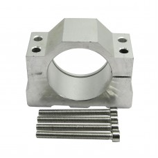 Aluminum Alloy 52mm Motor Mount Fixture Clamp Holder w/4 Screws for CNC Spindle