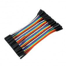 40PCS Dupont Wire 10cm Cables Line Jumper 1p-1p pin Connector Female to Female