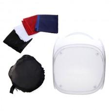 Photo Studio Soft Box Shooting Tent Softbox Cube Box 80 x 80cm/photo light tent+portable bag+ 4 Backdrops