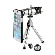 Mobile Telephoto Lens with Tripod and Phone Case Wide Angle Microspur Fisheye Zoom for iPhone 6 4S/ 5S Samsung