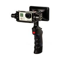 GP1 Handheld Gopro Hero3/4 Smart Camera Mount Stabilizer Gimbal with 3.5'' Screen