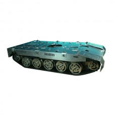 Super Size Tank Chassis Track Platform Smart Robotic Car w/ Independent Damper Chassis Over Obstacle for DIY Customized