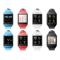 "Smart Watch S19 Bluetooth SmartWatch Cell Phone 1.54"" Touch Screen 2MP Camera TF GSM SMS FM Sync Android OS Hands"