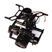 3 Axis FPV Brushless Gimbal Stabilizer Alloy for SONY NEX5 NEX7 A5000 A5100 A6000 GH2 Micro DSLR Camera Aerial Photography