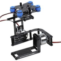 Two Axis Gimbal Gopro 3 3+ 4 Assembled for DJI 1 2 FPV Photography Light Weight