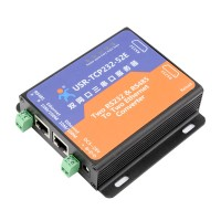 2 RS232 Port 1 RS485 Port Serial To Ethernet TCP/IP Converter DHCP/Modbus/WEB USR-TCP232-52E