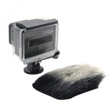 gopro4/3+/2hero Camera Windshield Wind Cap Decrease Noise Cover Rabbit Hair