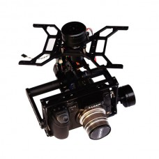 3 Axis FPV Brushless Gimbal Stabilizer Alloy for SONY A7 A7S Pansonic GH3 GH4  EM1 Medium Size Camera Aerial Photography