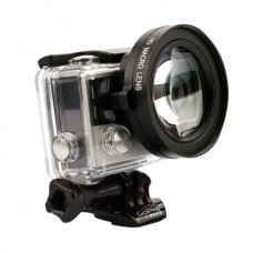 Professional Microspur Lens +16 Times Shooting Lens for Gopro Hero4 3+ Digital Camera