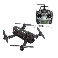250mm Carbon Fiber 4 Axis Mini Quadcopter + CC3D Flight Controller & TX RX & RcinPower MT2204 & Hobbywing 10A ESC