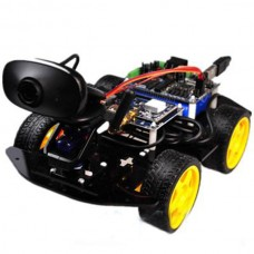 WiFi Smart Robot Car Chassis Kits & 9G Video Servo Gimbal for Competition