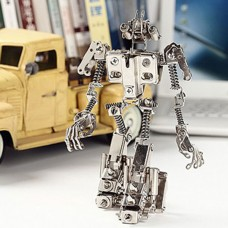 Metal Infantry Transformer Kits Nickelage Phone Holder Case for DIY Learner Toy Boy Gift