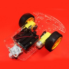Smart Car Chassis Avoiding Obstacles Tracking Speed Detection Kits for Car Competition w/ Inner Wheel