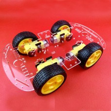 Smart Car Chassis Kits 4WD Strong Magnetic Motor w/ Coded Disc Single Layer