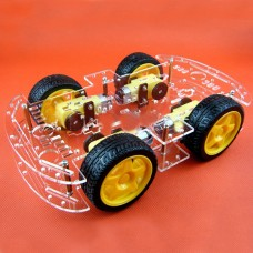 Smart Car Chassis Kits 4WD Inner Wheel Strong Magnetic Motor w/ Coded Disc Double Layer