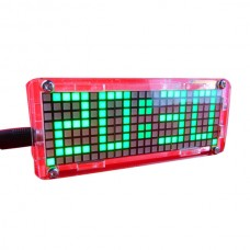 Dot Array LED Electronic Clock Kits Singlechip Digital Clock Green Blue Red White
