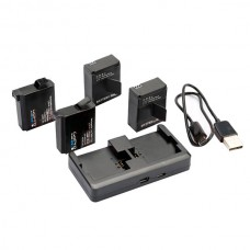 Dual Battery Charger Portable Current Protection for Gopro hero4 hero3+ hero3