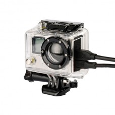 Professional Waterproof Transparent Case Side Opened for Gopro hero2 Diving Protective Shell