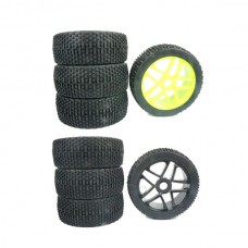 4PCS 1:8 Racing Car Cross Country Wheel Nylon Soft Durable HPI T8E 811 Large Nail Tire