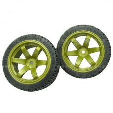 4PCS 1:10 Durable Nylon Wheel Soft Deep Texture for Racing Car