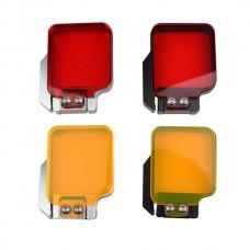 Red/ Orange Silver/ Black Frame Diving Filter for Gopro hero4/3+/3 SJ4000 Sport Camera Underwater Photography