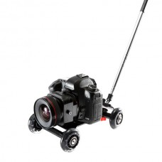 Mini Desktop Slide Photography Car w/ Pulling Rod for DSLR 5D2 Photogarphy