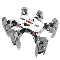 Metal Hexapod Spider RC Robot Frame Kits Basic Configuration No Handle