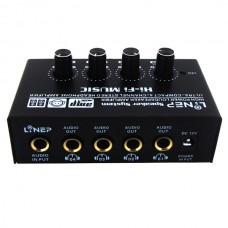 One In Four Out Converter Headphone Amplifier PC Audio Amp Earphone Monitoring
