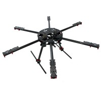 700mm Wheelbase Carbon Fiber Hexacopter Frame Kit w/ High Landing Gear Skid