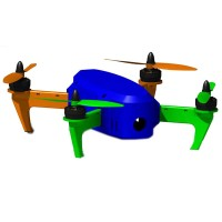 3D Print Customized PLA 250MM Quadcopter Frame Kits for FPV Photography